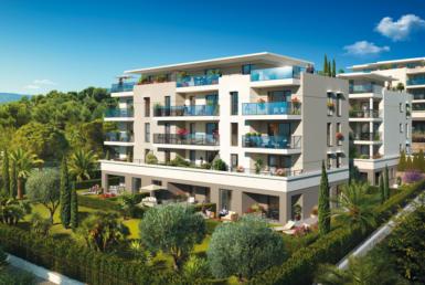 "Nue propriété à Antibes, perspective résidence ""Anthéa Garden"""